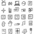 Stock Vector: Hand draw business icon collection