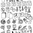 Computer and electronic hand draw collection — Stock Vector