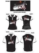 Creative print design on polo shirt — Stock Vector