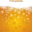 Snow Christmas golden background — Stock Vector