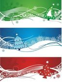 Christmas banner illustration vector — Stock Vector