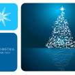 Beautiful abstract Christmas vector background — Stock Vector