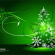 Christmas green background — Imagen vectorial