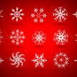 Stock Vector: Christmas snowflake vector set