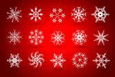 рождественская снежинка векторный набор — Cтоковый вектор