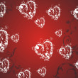 Ornament hearts background — Stockvektor
