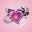 Valentine abstract heart — Stock Vector