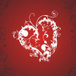 Red romantic heart vector — Grafika wektorowa