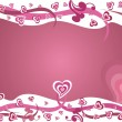 Pink love valentine design vector — Stock Vector