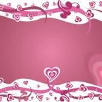 Pink love valentine design vector — Stock Vector