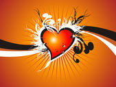 Valentine fresh background — Stock Vector