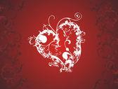 Red romantic heart vector — Stock Vector