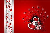 Beautiful floral Valentine´s day vector — Stock Vector