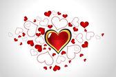 Abstract Valentine little heart illustration — Stock Vector