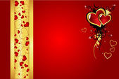 Valentine´s day greeting card vector — Stock Vector