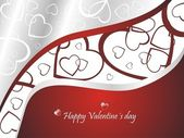 Beautiful Valentine´s day background — Stock Vector
