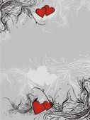 Valentine floral background — Stock Vector