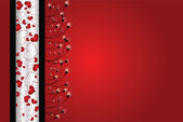 Valentine´s day abstract background — Stock Vector