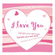 Sweet I love you background — Stock Vector