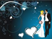 Beautiful wedding illustration — Stock Vector