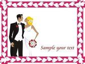 Wedding graphic design — Stock Vector