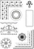 Decorative border, frame of ornament.Graphic arts. — Stock Vector
