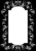 рама серебряная фольга в старом стиле на черном фоне — Cтоковый вектор