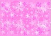 Abstrakt rosa bakgrund med transparent flower.background. — Stockvektor