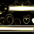 Classic frame with the decor of golden curves - Image vectorielle