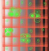 Fondo de vector abstracto en una jaula. — Vector de stock