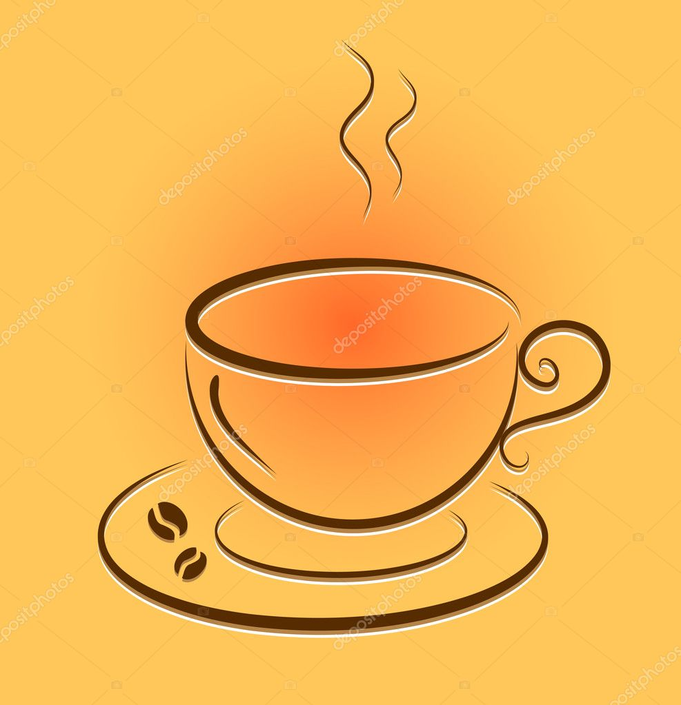 Vector cup with hot coffee. eps 8  Stock Vector #10383212