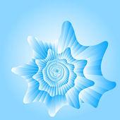 Modré moře cockleshell. — Stock vektor