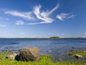 The coast of the White sea in Karelia. — Stock Photo