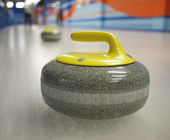 Stones for game in curling on ice. — Foto Stock