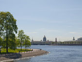 The embankment of river Nevai in St. Petersburg. — Stock Photo