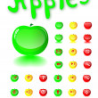 Glass a button web in the form of apples. Vector. — Stock Vector