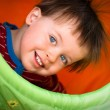 Close up portrait of happy smiling boy — Stock Photo #10596692
