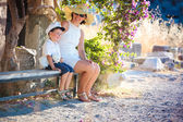 Horizontal photo of happy mother and son — Stock Photo