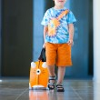 Boy with suitcase at airport — Stock Photo #10648521