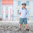 Portrait of a little boy outdoors — Stock Photo #10649312