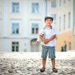 Portrait of a little boy outdoors — Stock Photo #10649324