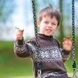 Stock Photo: Small child on swing