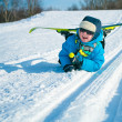 Young boy with cross-country — Stock Photo #8905975
