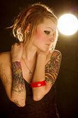 Tattoo woman — Stock Photo