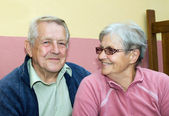 Couple of seniors — Stock Photo