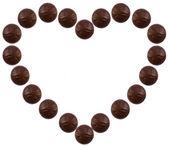 Corazón de chocolate — Foto de Stock