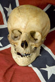 Confederate skull — Stock Photo