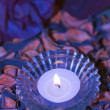 Purple candle — Stockfoto