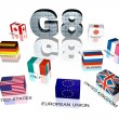 Great Eight flags — Stock Photo