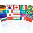 G20 flags — Stock Photo
